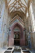 Albrechtsburg, Dom, Fürstenkapelle mit Grabtumba Friedrichs des Streitbaren, Meißen, Sachsen, Deutschland. .Albrechtsburg, cathedral, Fuerstenkapelle, Meissen, Saxony, Germany.