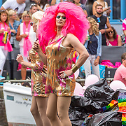 NLD/Amsterdam/20170805 - Gaypride 2017, boot PVDA