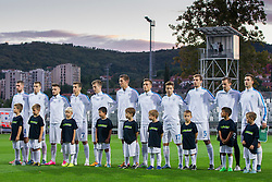 Players of team Slovenia during football match between U21 National Teams of Slovenia and Italy in 4th Round of UEFA 2017 European Under-21 Championship Qualification on October 8, 2015 in stadium Bonifika, Koper / Capodistria, Slovenia. Photo by Urban Urbanc / Sportida