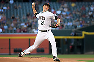 PHOENIX, AZ - MAY 16:  Zack Greinke #21 of the Arizona Diamondbacks delivers a pitch in the first inning during the MLB game against the New York Mets at Chase Field on May 16, 2017 in Phoenix, Arizona. The Arizona Diamondbacks won 5-4.  (Photo by Jennifer Stewart/Getty Images)