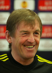 LIVERPOOL, ENGLAND, Wednesday, March 16, 2011: Liverpool's manager Kenny Dalglish during a press conference at the club's Melwood Training Ground ahead of the UEFA Europa League Round of 16 2nd leg match against Sporting Clube de Braga. (Photo by David Rawcliffe/Propaganda)