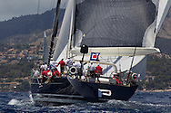 SPAIN, Palma. 22nd June 2013. Superyacht Cup. P2, 125ft/(38m) designed by Philippe Briand, built by Perini Navi