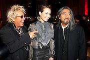 ;JUSTIN DAVIES; Noomi Rapace; YOHJI YAMAMOTO , Yohji Yamamoto exhibition opening. V & A Museum. London. 10 March 2011. -DO NOT ARCHIVE-© Copyright Photograph by Dafydd Jones. 248 Clapham Rd. London SW9 0PZ. Tel 0207 820 0771. www.dafjones.com.