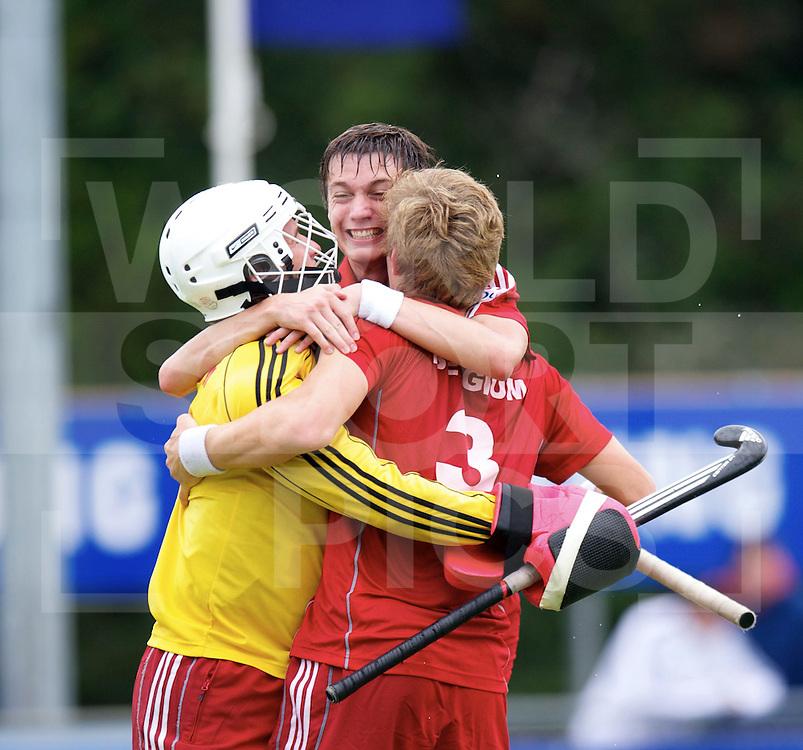 UTRECHT - VOLVO EUROHOCKEY CHAMPIONSHIPS 2011.Belgium vs Germany.Semi-final   3-1.Foto: Celebrations belgium after semi-final..FFU Press Agency  COPYRIGHT FRANK UIJLENBROEK..