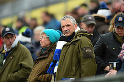 A Bath Rugby supporter in the crowd looks on - Mandatory byline: Patrick Khachfe/JMP - 07966 386802 - 09/11/2019 - RUGBY UNION - The Recreation Ground - Bath, England - Bath Rugby v Northampton Saints - Gallagher Premiership