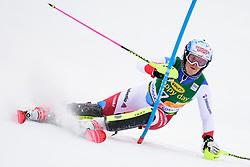 January 7, 2018 - Kranjska Gora, Gorenjska, Slovenia - Melanie Meillard of Switzerland competes on course during the Slalom race at the 54th Golden Fox FIS World Cup in Kranjska Gora, Slovenia on January 7, 2018. (Credit Image: © Rok Rakun/Pacific Press via ZUMA Wire)