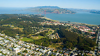 Aerial view of the Presidio San Francisco  California