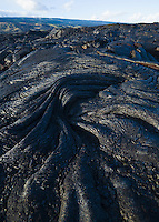 Pahoehoe lava flow in Hawai'i Volcanoes National Park