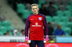 Jordan Pickford of England warms up ahead of the fixture with Slovenia - Mandatory by-line: Robbie Stephenson/JMP - 11/10/2016 - FOOTBALL - RSC Stozice - Ljubljana, England - Slovenia v England - World Cup European Qualifier