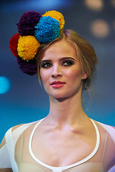 © Licensed to London News Pictures.  07/12/2012. BIRMINGHAM, UK. A model walks down the catwalk during the Fashion Theatre show at the Clothes Show Live event being held in the NEC, Birmingham. The show opens today and runs until Tuesday. Photo credit :  Cliff Hide/LNP
