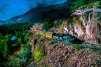 The Durango-Silverton Narrow Gauge train near Rockwood, Colorado