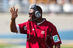 September 24, 2011; San Jose, CA, USA;  New Mexico State Aggies head coach DeWayne Walker on the sidelines against the San Jose State Spartans during the fourth quarter at Spartan Stadium. San Jose State defeated New Mexico State 34-24.