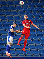Ritchie de Laet of Leicester City wins a header - Mandatory by-line: Matt McNulty/JMP - 02/08/2016 - FOOTBALL - Pro Act Stadium - Chesterfield, England - Chesterfield v Leicester City - Pre-season friendly