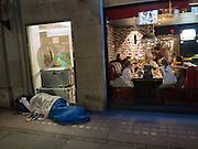 Homeless, begging,  The Strand, London. 28 January 2016