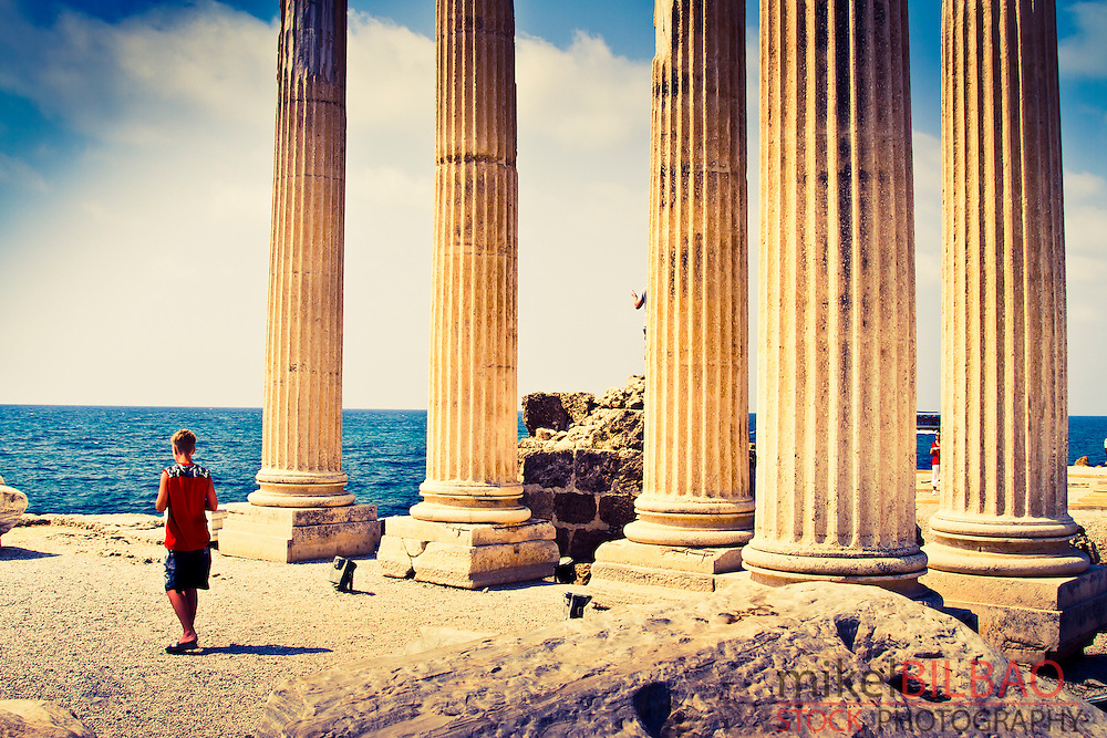 Temple of Apollo. Side ancient city. Province of Antalya. Mediterranean coast. Turkey
