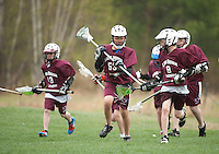 Lakes Region Lacrosse versus Generals U13 boys game Saturday, April 22, 2012.