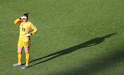 Spain goalkeeper Sandra Panos during the game