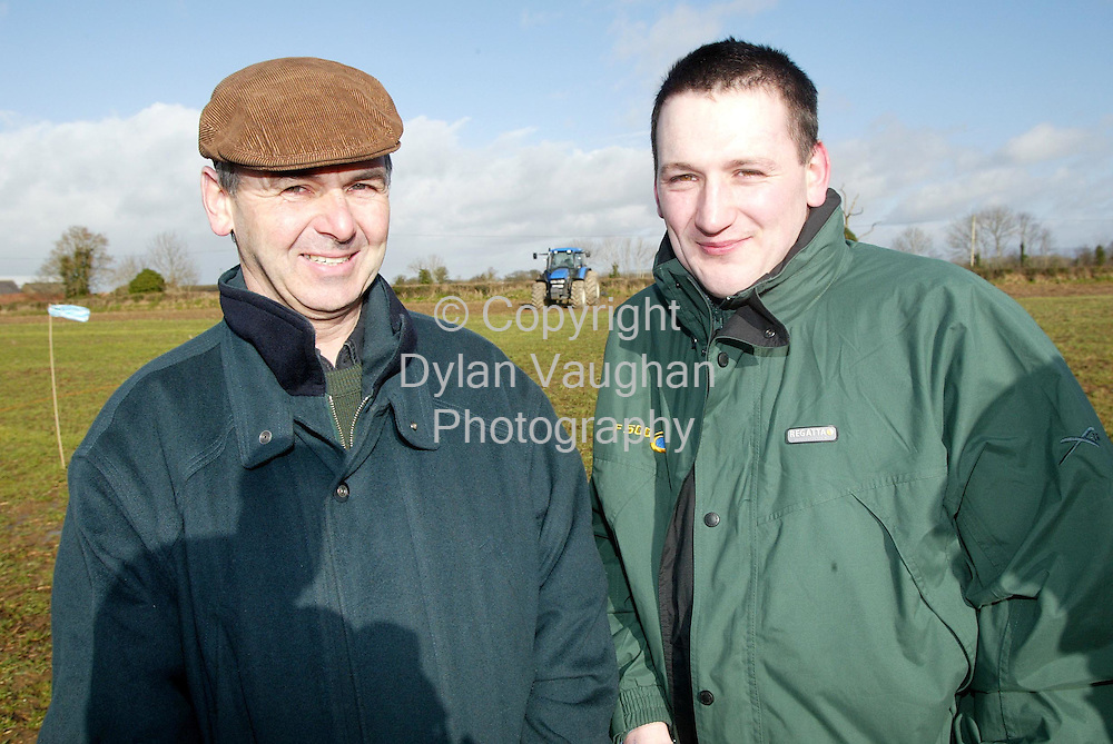 20/2/2002 .Larry O Reilly from Ballyragget and Liam Phelan from Baltinglass, pictured at the Ecotilage open day at the Ecotilage research centre near Castledermot Co Kildare..Picture Dylan Vaughan