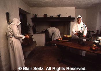 Ephrata Cloister, Ephrata, PA, early American religious sect, Kitchen