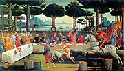 Boccaccio's Decameron  1487,   By Sandro Botticelli, Museo del Prado Deutsch. Madrid