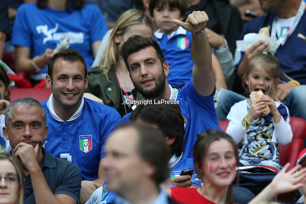 Jonathan Moscrop - LaPresse<br /> 28 06 2012 Varsavia ( Polonia )<br /> Sport Calcio<br /> Europei 2012 Polonia e Ukraina - Semi Finale Germania vs. Italia - Stadio Nazionale di Varsavia<br /> Nella foto: Claudio Chiellini e Cristiano Novembre<br /> <br /> Jonathan Moscrop - LaPresse<br /> 28 06 2012 Warsaw ( Polonia )<br /> Sport Soccer<br /> Euro 2012 Poland and Ukraine - Semi Final Germany versus Italy - National Stadium Warsaw<br /> In the photo: Claudio Chiellini and Cristiano Novembre