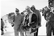 David Kirke and Graham chapman, , Dangerous Sports club ski race, St. Moritz. 1985. © Copyright Photograph by Dafydd Jones 66 Stockwell Park Rd. London SW9 0DA Tel 020 7733 0108 www.dafjones.com