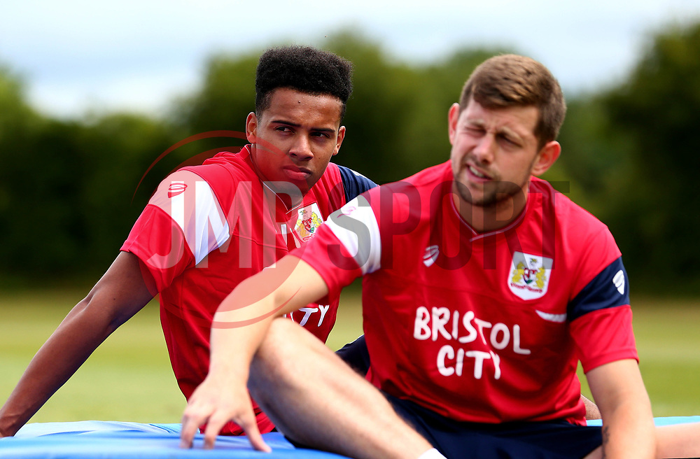 Jojo Wollacott and Frank Fielding look on as Bristol City return to training ahead of their 2017/18 Sky Bet Championship campaign - Mandatory by-line: Robbie Stephenson/JMP - 30/06/2017 - FOOTBALL - Failand Training Ground - Bristol, United Kingdom - Bristol City Pre Season Training - Sky Bet Championship