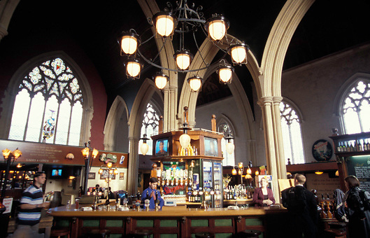 Church converted into pub in Brighton Sussex England, UK
