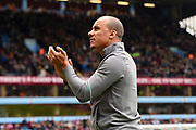 Aston Villa's Gabriel Agbonlahor applauds the Villa supporters during the EFL Sky Bet Championship match between Aston Villa and Derby County at Villa Park, Birmingham, England on 28 April 2018. Picture by Jon Hobley.