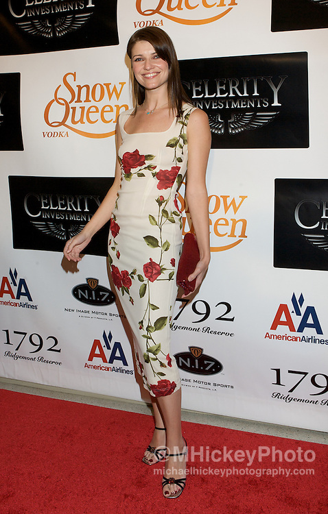 Actress Ivana Milicevic appears on the red carpet at the Derby Spectacular presented by Snow Queen Vodka and Celebrity Investments in Louisville, KY Photo by Michael Hickey