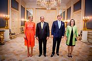 Koning Willem-Alexander en Koningin Maxima ontvangen president Luis Guillermo Solís Rivera van Costa