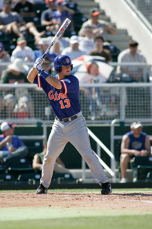 University of Florida first baseman Matt LaPorta in action during the Gators 4-1 victory over the Miami Hurricanes on February 18, 2006 at Mark Light Field in Coral Gables, Florida.
