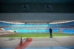 Vista geral do reservado para cadeirantes na Arena do Grêmio, localizada no bairro Humaitá, zona norte de Porto Alegre. De acordo com a Construtora OAS, responsável pelo empreendimento, o novo estádio tricolor será inaugurado dia 8 de dezembro de 2012 e será utilizado como campo oficial de treino durante a Copa do Mundo de 2014. FOTO: Jefferson Bernardes/Preview.com
