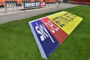 Sky Bet Advertising during the EFL Sky Bet League 1 match between Blackpool and Accrington Stanley at Bloomfield Road, Blackpool, England on 25 August 2018.