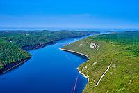 Croatie, Istrie, côte adriatique, canal de Limski // Croatia, Istria, Limski channel