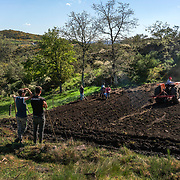 Four families in Vilarinho Seco pool their labour and equipment to plant potatoes in early spring, a commom practice in Barroso.
