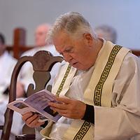 Bishop Emeritus of Killaloe Willie Walsh co celebrant at the Rededication of St John's Church, Clooney