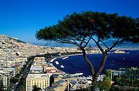 Italie, Campanie, Naples, vue sur le Vésuve et la baie de Naples // Italy, Campania, Naples, View to Naples bay and Vesuvio