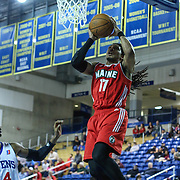 Maine Red Claws Guard Sherwood Brown (17) drives to the basket in the second half of a NBA D-league regular season basketball game between the Delaware 87ers (76ers) and the Maine Red Claws (Boston Celtics) Friday, March. 21, 2014 at The Bob Carpenter Sports Convocation Center in Newark, DEL