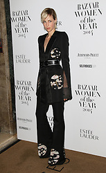 © Licensed to London News Pictures. 04/11/2014, UK. Edie Campbell, Harper's Bazaar Women of the Year Awards, Claridge's, London UK, 04 November 2014. Photo credit : Richard Goldschmidt/Piqtured/LNP