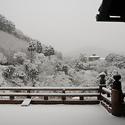 """Kyoto, Japan, December 31, 2010. Kiyomizudera (""""Pure Water Temple""""), one of the most celebrated temples of Japan."""
