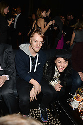 ALFIE ALLEN and JAIME WINSTONE at the Old Vic 24 Hour Plays Celebrity Gala held at the Rosewood Hotel, 252 High Holborn, London on 24th November 2013.