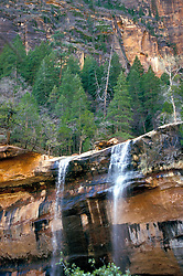 Zion National Park:  Emerald Pools Waterfall (no people).