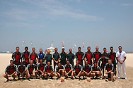 Football - FIFA Beach Soccer World Cup 2006 - Referees poses to photo - Rio de Janeiro - Brazil 1/11/2006<br />