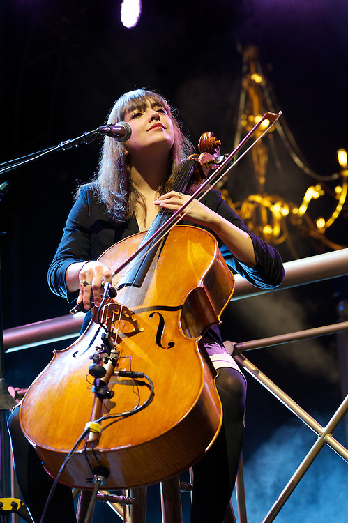 Neyla Pekarek of the Lumineers performs at Marymoor Park in Redmond, Wa. Photo by John Lill