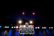 GOP presidential candidate Rep. Ron Paul speaks at a campaign rally at the Grand Sierra Resort in Reno, Nev., February 2, 2012.
