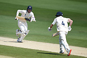 Harry Came and Tom Alsop of Hampshire during the Bob Willis Trophy match between Sussex County Cricket Club and Hampshire County Cricket Club at the 1st Central County Ground, Hove, United Kingdom on 3 August 2020.