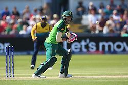 June 28, 2019 - Chester Le Street, County Durham, United Kingdom - South Africa's Faf du Plessis batting during the ICC Cricket World Cup 2019 match between Sri Lanka and South Africa at Emirates Riverside, Chester le Street on Friday 28th June 2019. (Credit Image: © Mi News/NurPhoto via ZUMA Press)