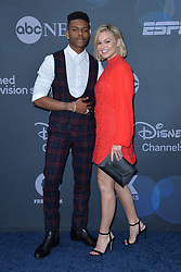 May 14, 2019 - New York, NY, USA - May 14, 2019  New York City..Aubrey Joseph and Olivia Holt attending Walt Disney Television Upfront presentation party arrivals at Tavern on the Green on May 14, 2019 in New York City. (Credit Image: © Kristin Callahan/Ace Pictures via ZUMA Press)