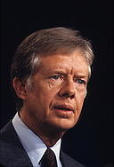 President Jimmy Carter answers questiokns at a press conference in the East Room of the White House in July 1979.<br /> <br /> Photograph by Dennis Brack<br /> bb45